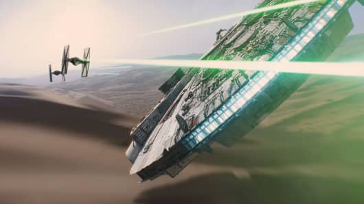 "An image from ""Star Wars: Episode VII The Force Awakens"""