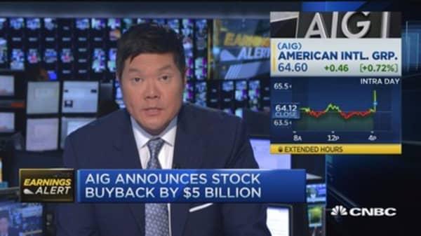 AIG's earnings beat & buyback