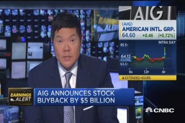 AIG's earnings beat & buyback