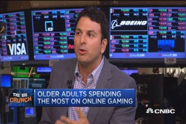 Older adults spend most on online gaming