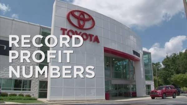 Toyota posts record breaking profits