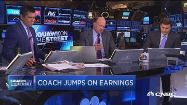 Cramer on Coach earnings