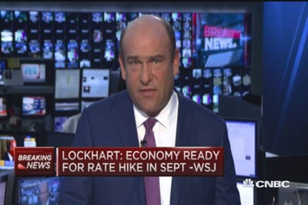 Lockhart: Economy ready for rate hike in Sept. - WSJ