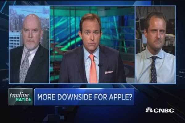 Why is Apple selling off?
