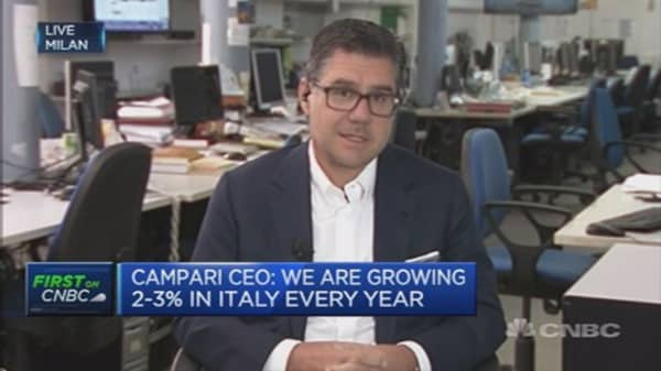 Cheers! European consumption healthy: Campari CEO