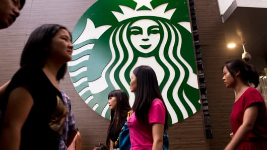 A Starbucks store in Shenzhen, China.
