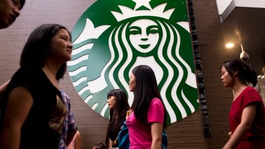 A Starbucks store in Shenzhen, China.