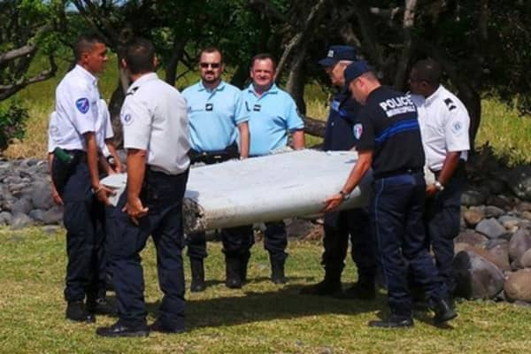 Recovered wing from missing flight MH370