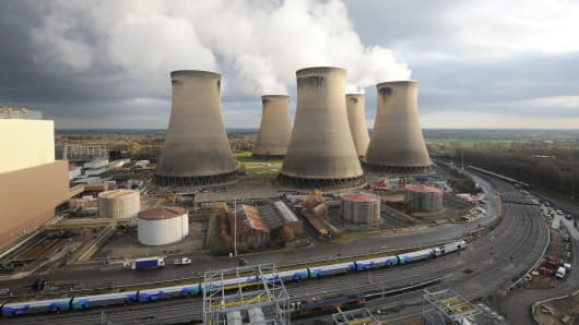 The Drax Power Station near Selby, North Yorkshire.