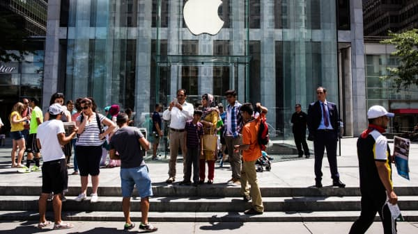 Apple Store on Fifth Avenue in New York City