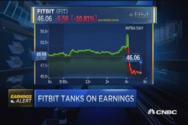 Fitbit tanks on earnings
