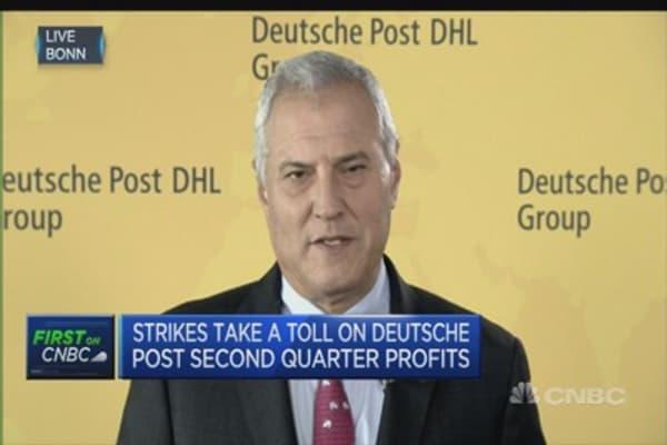 Strike action costs Deutsche Post