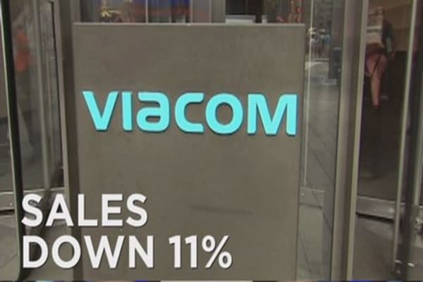 Viacom reports revenue decline