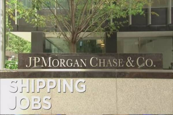 JPMorgan moves jobs to NJ