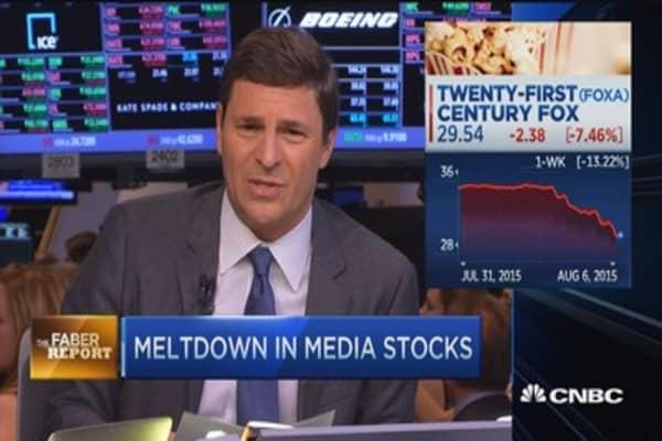 Faber Report: Meltdown in media stocks