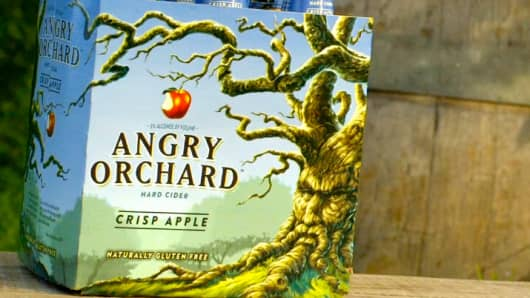 Angry Orchard Crisp Hard Cider.