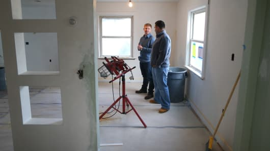 Home renovation projects are keeping contracting companies busy.