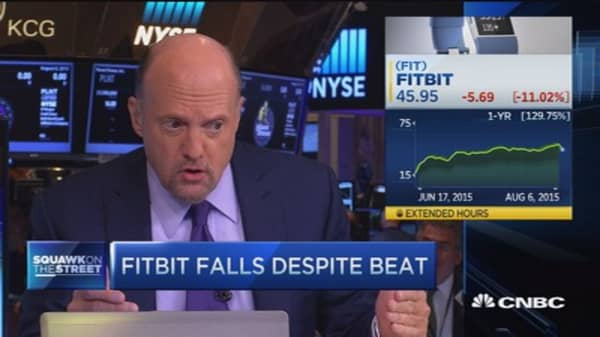 Cramer on Fitbit earnings