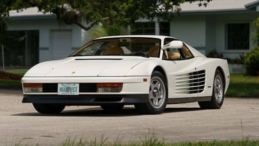 "This 1986 Ferrari Testarossa, featured in the 1980s hit TV show ""Miami Vice,"" is set to hit the auction block."
