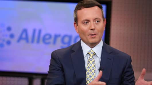 Brent Saunders, CEO of Allergan.