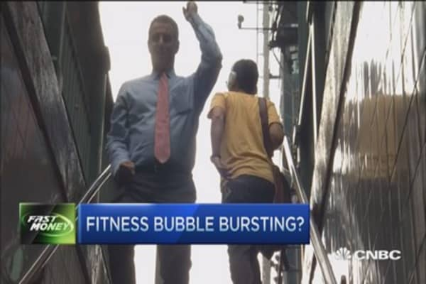 Fitness bubble bursting?