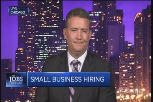 Small business hiring in US is gaining ground