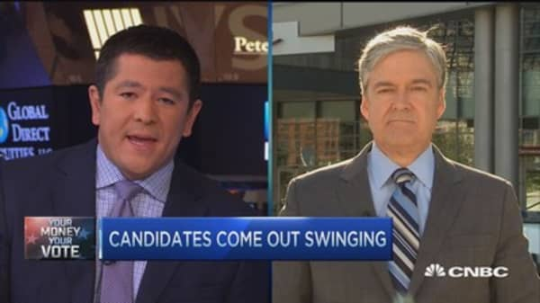 GOP candidates come out swinging
