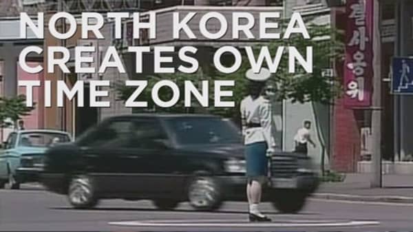 North Korea adopts its own time zone