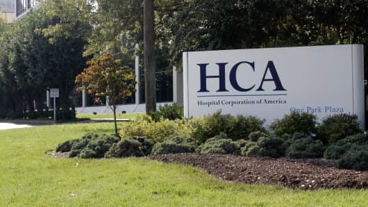 Headquarters of Hospital Corporation of America, one of the nation's largest hospital operators, in Nashville, Tenn.