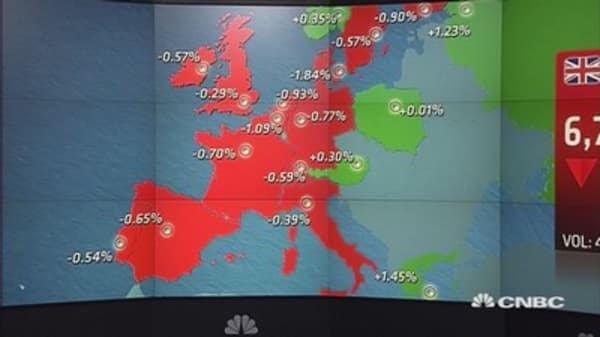 Europe ends in the red after key US jobs data