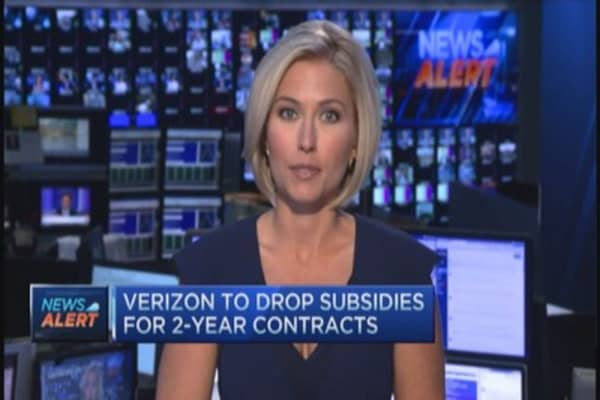 Verizon drops subsidies for 2-yr contacts