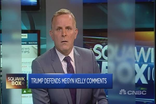 Donald Trump defends comments about Megyn Kelly