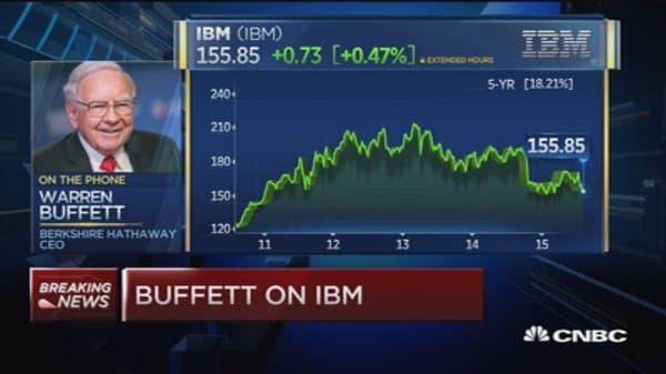 Warren Buffett on IBM: I feel fine