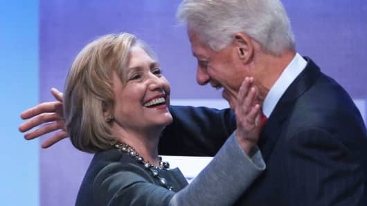 Hillary and Bill Clinton