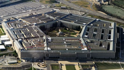 The Pentagon building in Washington, DC.