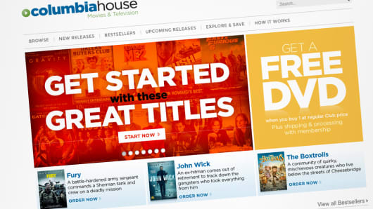 Columbia House home page