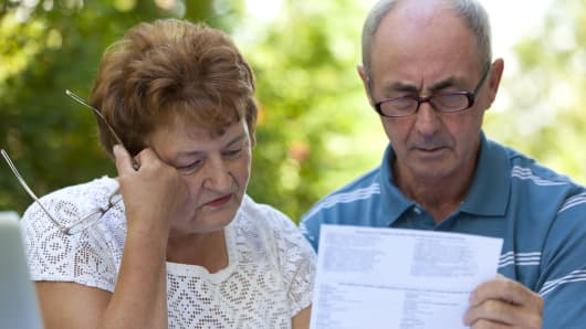 Social security retirement couple worried