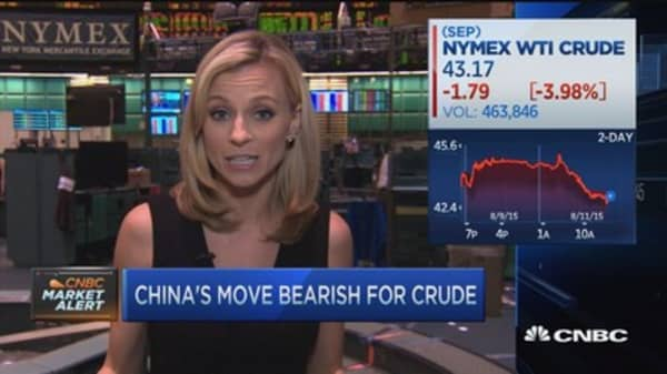 China's announcement = bearish for oil