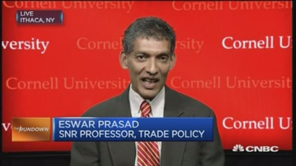 Prasad: Yuan devaluation is an 'astute move'