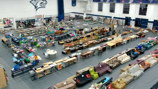 UNH's Trash 2 Treasure program is set up for its fall sale.