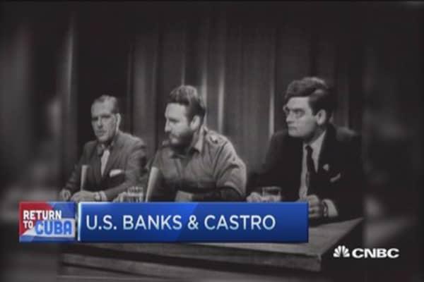US banks & Castro