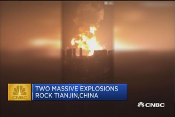 CNBC Update: Massive explosions in China injure hundreds