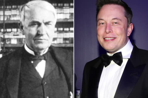 Thomas Edison and Elon Musk