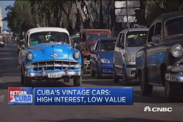 Cuba's antique cars