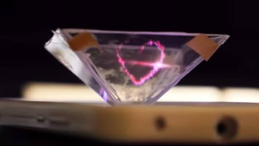 Image from video 3D hologram smart phone