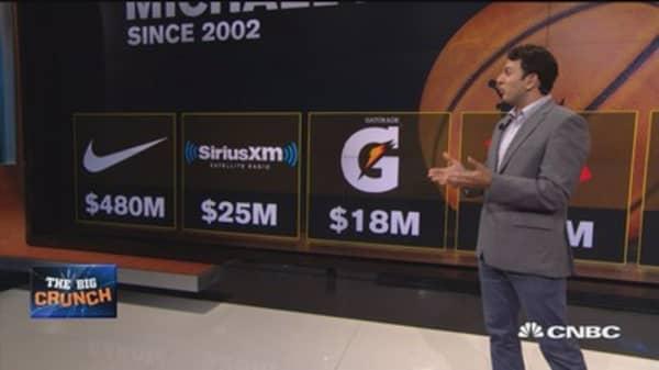 Jordan made what from sponsorships?
