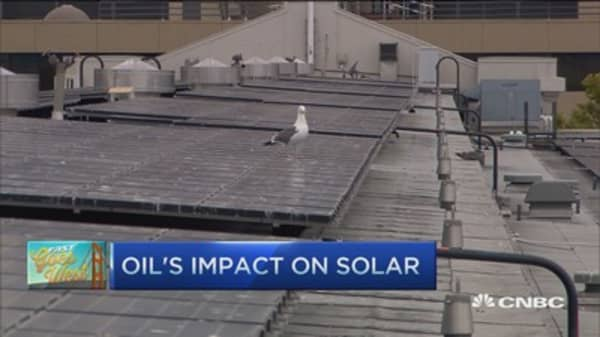 Oil's impact on solar energy