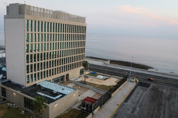 The U.S. embassy in Havana, Cuba on Aug. 12, 2015.