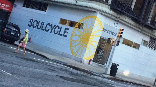 A SoulCycle location in New York City