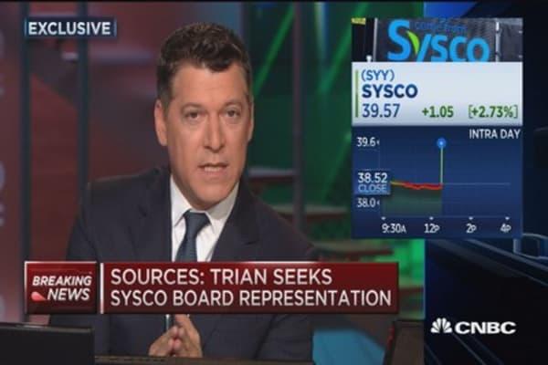Sources: Trian takes 7% stake in Sysco
